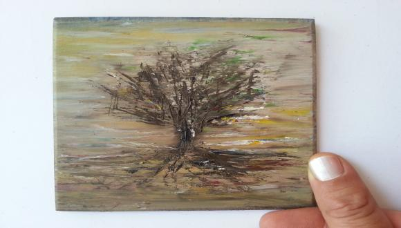 תערוכת ציורים: עץ על עץ